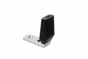 "DON-JO- Door Stops Angle Stop,Base: 2-1/2"" x 1"", Rubber Height: 2-5/8, Rubber Width: 1-1/2"", Satin Chrome Plated"