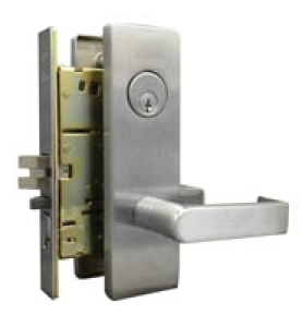 LSDA - Mortise Locksets, Heavy Duty, Satin Chrome