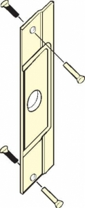 "DON-JO - Pin Latch Protectors, 3""x11"" for Outswinging Doors"