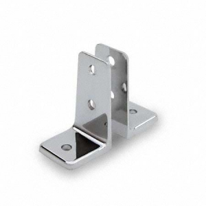 Cast Wall Brackets - U and Two Piece, Polished Chrome Zamac